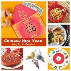 Chinese New Year Crafts & Recipes #chinesenewyear