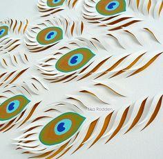 feather paper cut - Buscar con Google