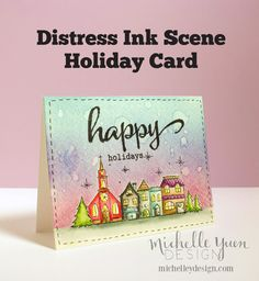 Video: Holiday Card with Distress Ink Scene — Michelle Yuen Design