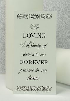 Memorial Candle Decal In Loving Memory Diy By Andrewspondcrafts
