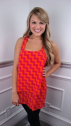 Tunic length tank in a rockin' chevron print! $59 #shopbluedoor