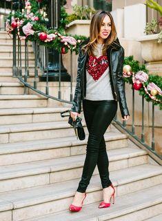 Sydne Style - Los Angeles fashion blogger Sydne Summer shares Holiday Love plus a Hudson jeans coupon code for black coated denim!
