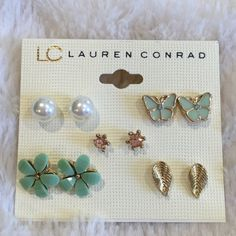 LC Lauren Conrad Earring Bundle Brand new with tags. Never used. LC Lauren Conrad Jewelry Earrings