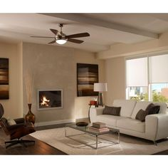 Living Room Ceiling Fan Monte Carlo Discus 52 In. Polished Nickel Ceiling Fan With Living Room Ceiling Fan, Living Room Lighting, Living Room Decor, 52 Inch Ceiling Fan, Best Ceiling Fans, Living Room New York, Ceiling Fan Chandelier, Ceiling Lights, Classic Ceiling