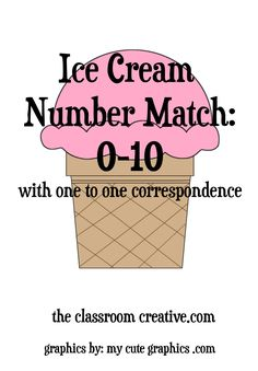 ice cream number mat