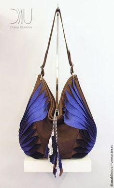 """Женские сумки ручной работы. Ярмарка Мастеров - ручная работа """"Тотем"""" сине-коричневый. Handmade."""