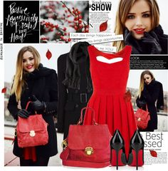 """""""Red and Black: It's possible!"""" by bklana ❤ liked on Polyvore"""