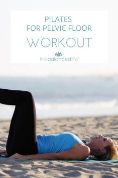 Bladder Exercises, Pelvic Floor Exercises, Prolapse Exercises, Ab Exercises, Fitness Exercises, Pilates Workout Routine, Workout Videos, Pop Pilates, Workout Abs