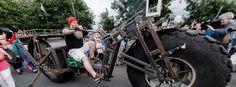 Schwerstes fahrbares Fahrrad der Welt: Drahtmonster mit Stützrädern