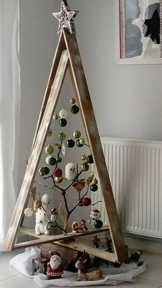 New Christmas Home Decor Inspiration Ideas In every Chris. , New Christmas Home Decor Inspiration Ideas In every Christmas, each family in every house requires to put a bit effort to make . Christmas Tree Design, Wooden Christmas Trees, Noel Christmas, Rustic Christmas, Christmas 2019, Christmas Tree Ornaments, Funny Christmas, Ladder Christmas Tree, Unique Christmas Trees