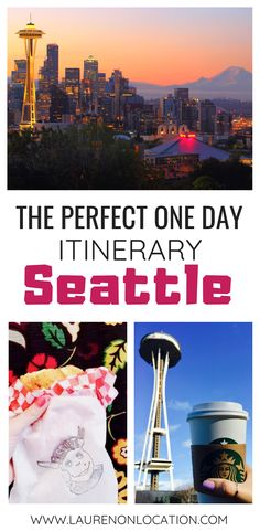 How to spend one perfect day in Seattle, Washington. Where to eat, what to see and what to do.