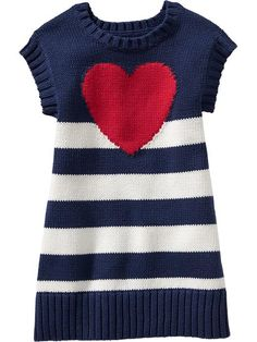 Heart Sweater Dresses for Baby Product Image