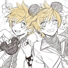 Roxas & Ventus | Kingdom Hearts | I don't own the picture, credits to the owner of the picture~! :3