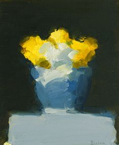 Stanley Bielen (Polish) ~ ''Flowers / Blue Bowl''