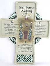 IRISH HOME BLESSING WALL CROSS ABBEY PRESS LOVELY HOUSE GIFT House Blessing, House Gifts, Wall Crosses, Cross Stitch Charts, Irish, Blessed, Home, Illusions, Irish People