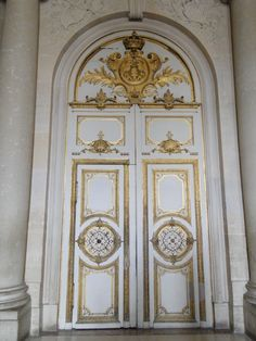 Interior door.  Versailles, France.