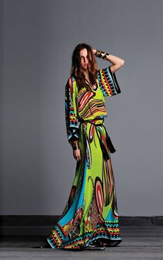 BOHEMIAN MAXI DRESS -2013 SUMMER STAPLE #BOHEMIANFASHION #BOHO #BOHEMIANDRESS #EUROPEANFASHION