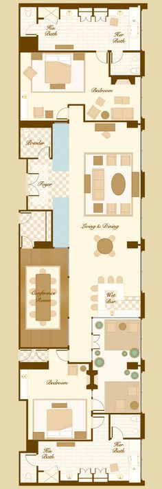 2 Bedroom Suites Portland Oregon: Bellagio Penthouse Suite Floorplan