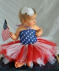 4th July baby girl tutu dress
