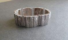 Knud V Andersen Sterling Modernist Bracelet Denmark Bark Michelsen