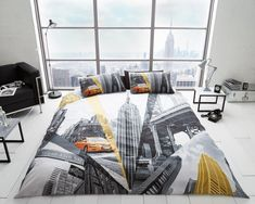 New Soft Bedding Set Fifth Avenue New York Usa Taxi Double Duvet Cover Set Bed Duvet Covers, Duvet Sets, Duvet Cover Sets, Bed Sets, Christmas Bedding, 3d Christmas, Christmas Offers, Zen, Fitted Bed Sheets
