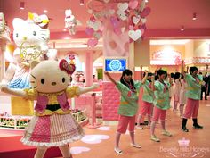 """Hello Kitty Park in Shanghai Dubbed """"The Cutest Place on Earth,"""" the theme parks offer rides, shows, movies, games and parades based on Hello Kitty and her friends My Melody, Cinnamoroll, Badtz-Maru and others."""