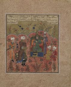 Arts of the Islamic World   Folio from a <i>Shahnama</i> (Book of kings) by Firdawsi (d.1020); Rustam before Kay Ka'us   S1986.135