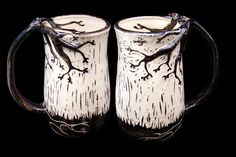 Twisted tree mugs.
