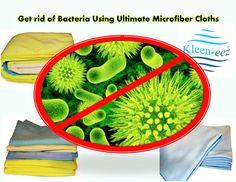 Get rid of bacteria using Microfiber Cloths Cloths, Rid, Drop Cloths, Diy Dusters, Textiles, Fabrics, Clothes, Clothing