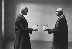 Gilbert Garcin Le changement d'heure