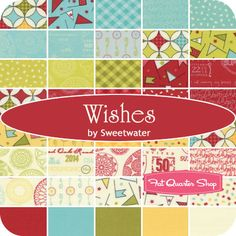 Wishes by  Sweetwater for Moda Fabrics We are busy wishing for this collection to arrive! Coming to Fat Quarter Shop in January 2014  RE-PIN if you can't wait for Wishes to arrive!