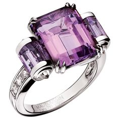 Purple Passion  -- Garner second looks with this emerald cut amethyst ring.  By Mauboussin
