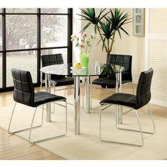 Hammarshee Modern Glass Top Dining Table