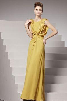 おしとやかなスタイル! イエロー系高級ロングドレス♪ - ロングドレス・パーティードレスはGN|演奏会や結婚式に大活躍!