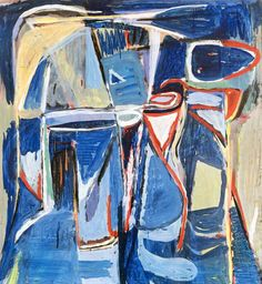 Velde, Bram van - 1959 Untitled (Kunstmuseum of Winterthur, Switzerland) Artist Painting, Figure Painting, Painting Abstract, Art Paintings, Gouache, Bram Van Velde, Tachisme, Dutch Painters, Contemporary Abstract Art