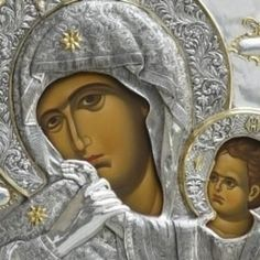 As you go up the staircase to the right of the central door of the main church of the Holy and Great Monastery of Vatopaidi, there's a chapel dedicated to Our Lady of Consolation. Cyprus News, Orthodox Icons, Our Lady, Virgin Mary, Mona Lisa, Princess Zelda, Statue, Artwork, Fictional Characters