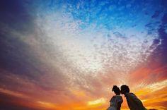 夕日が綺麗な時間帯に撮るウェディングフォトが素敵すぎる | marry[マリー]