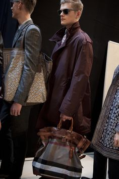 Backstage at the Burberry Prorsum Menswear - Spring/Summer 2013 show