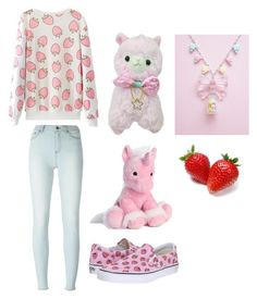 """berry fun"" by lil-stary ❤ liked on Polyvore featuring BLK DNM and Vans"