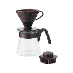 Hario V60 Coffee Dripper and Pot Set Brown ** Check this awesome product by going to the link at the image.