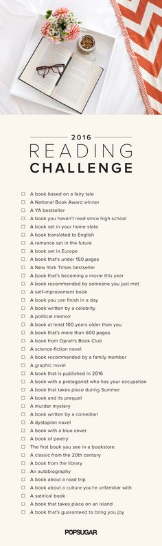 If you're truly book obsessed, this ultimate reading challenge will be right up your alley. Looking to broaden the scope of your reading in 2016? We will help you read a variety of books this year.