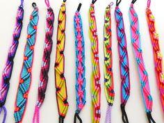 STOCK UP FOR SUMMER! neon tribal friendship bracelets set of 10