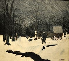 Horace Pippin, Country Doctor (Night Call), 1935