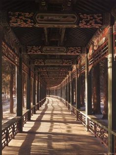 size: Photographic Print: Covered Walkway at Summer Palace in Beijing, China by Dmitri Kessel : Artists Ancient Chinese Architecture, China Architecture, Architecture Design, Japanese Architecture, Classical Architecture, Architecture Office, Futuristic Architecture, Chinese Landscape, Fantasy Landscape