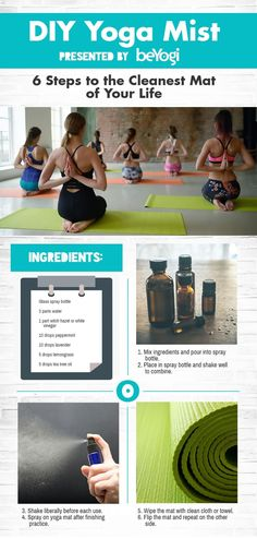 DIY Yoga Mat Spray - making this with Young Living essential oils tomorrow!