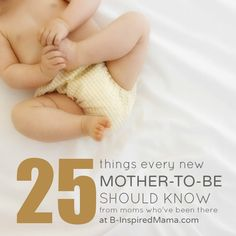 Are you pregnant with your first baby? You MUST read this! Real advice for a new mother-to-be from real moms who have been there at B-InspiredMama.com.