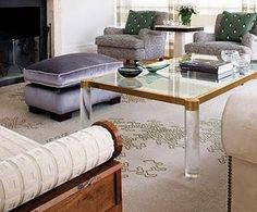 brass lucite coffee table perfection
