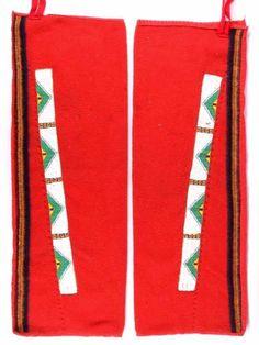 Sioux Beaded Trade Clothe Leggings circa 1890