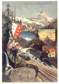 1890 Mont Cervin - Mont Rose 01
