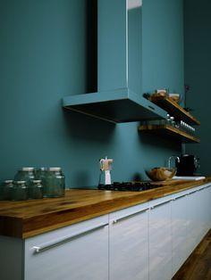 couleur cuisine tendance peinture bleu sarcelle